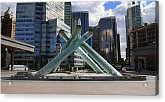 Olympic Cauldron Vancouver Canada Acrylic Print by Pierre Leclerc Photography