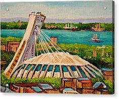 Olympic Stadium  Montreal Acrylic Print by Carole Spandau
