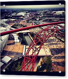 #olympics #orbit #london #london2012 Acrylic Print by Samantha J