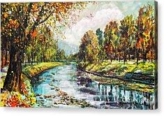 Olza River Acrylic Print