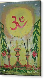 Om Immage For Memmory Acrylic Print by m Bhatt