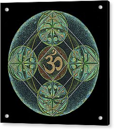 Acrylic Print featuring the painting Om by Keiko Katsuta