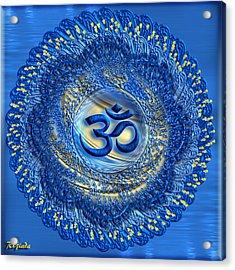 Om Mandala Acrylic Print