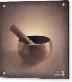 Acrylic Print featuring the photograph Om Singing Bowl by Chris Scroggins