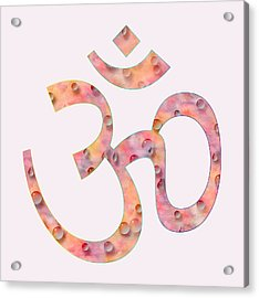 Acrylic Print featuring the painting Om Symbol Digital Painting by Georgeta Blanaru