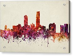 Omaha Cityscape 09 Acrylic Print by Aged Pixel