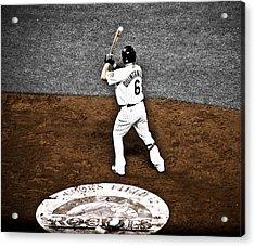 Omar Quintanilla Pro Baseball Player Acrylic Print by Marilyn Hunt