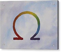 Omega Rainbow Acrylic Print by Debbie Homewood