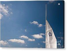 Omega Symbol On Mast Acrylic Print