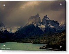 Acrylic Print featuring the photograph Ominous Peaks by Andrew Matwijec