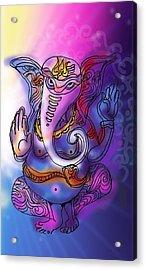 Omkareshvar Ganesha Acrylic Print
