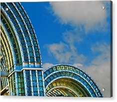 On A Blue Day Acrylic Print by Wendy J St Christopher