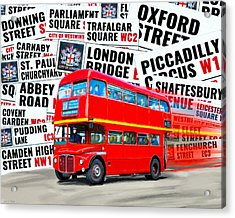 On A Bus For London Acrylic Print by Mark E Tisdale