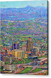 On A Clear Day - A View From Mill Mountain Acrylic Print