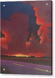On A Dark Desert Highway Acrylic Print by Jack Malloch