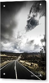 On A Dark Deserted Highway Acrylic Print