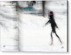 On A Frozen Pond Acrylic Print by Denis Bouchard