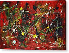 Acrylic Print featuring the painting On A High Note by Jacqueline Athmann