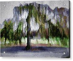 On A Rainy Day In Boston Acrylic Print