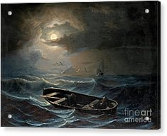 On A Stormy Sea Acrylic Print