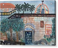 On A Street In Hebron Acrylic Print by Sher Magins