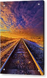 On A Train Bound For Nowhere Acrylic Print by Phil Koch