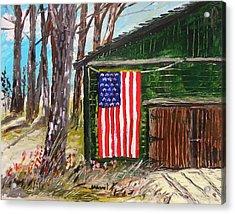On A Veteran's Barn Acrylic Print by John Williams