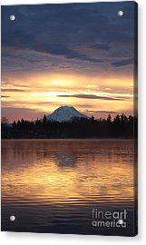 On American Lake  Acrylic Print by C E Dyer