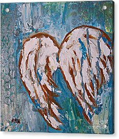 On Angel Wings Acrylic Print