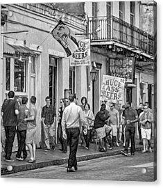 On Bourbon Street - Paint Bw Acrylic Print by Steve Harrington