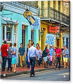 On Bourbon Street - Paint Acrylic Print by Steve Harrington
