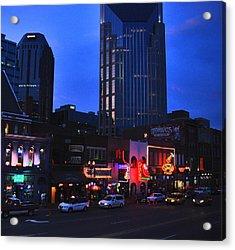 On Broadway In Nashville Acrylic Print by Susanne Van Hulst