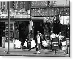 Acrylic Print featuring the photograph On Broadway Los Angeles Style by Lorraine Devon Wilke