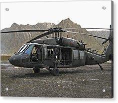 On Call Blackhawk In Afghanistan Acrylic Print