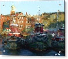 On Call Acrylic Print by Eddie Durrett