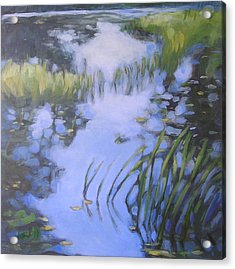 On Calm Reflection Acrylic Print by Mary Brooking