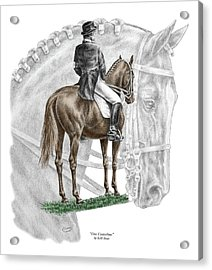 On Centerline - Dressage Horse Print Color Tinted Acrylic Print
