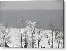 Acrylic Print featuring the photograph On Demond Pond by John Black