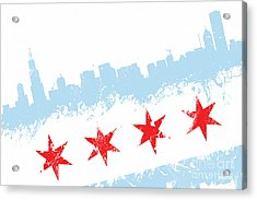 Chicago Flag Lean Acrylic Print