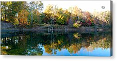 Acrylic Print featuring the photograph On Gober's Pond by Max Mullins