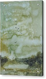 On Golden Pond Acrylic Print by Elizabeth Carr