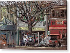 On Marietta Square Acrylic Print by Donald Maier