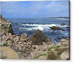 On Monterey Bay Near Pebble Beach Acrylic Print by Don Struke