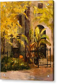On Orleans In Old Town  Acrylic Print by Nancy Albrecht