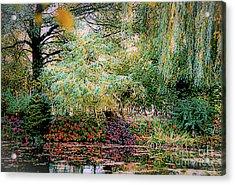 Reflection On, Oscar - Claude Monet's Garden Pond Acrylic Print