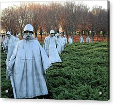 On Patrol The Korean War Memorial Acrylic Print