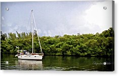 On Quiet Waters Acrylic Print