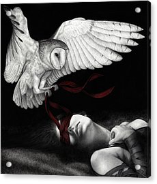 Acrylic Print featuring the painting On Silent Wings by Pat Erickson