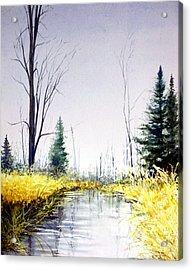 On Silver Pond Acrylic Print