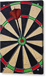 On Target Bullseye Acrylic Print by Garry Gay